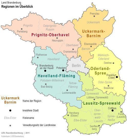 Lausitz Karte.Grundlagen Und Aufgaben Planungsgemeinschaft Regionale